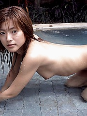 Meiko hot looking Asian model shows off her hot perfect ass and tits