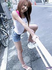 Asian model Yuuna is a bit shy when she models but she is a hot slut in the sack