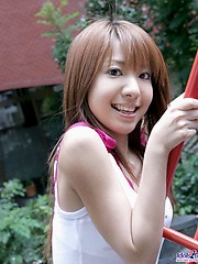 Asian model Yuuna is a bit shy when she models but she is a hot slut in the sack