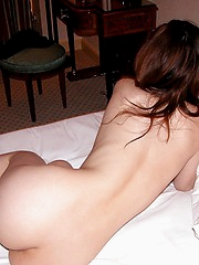 Kurara enjoys the freedon of being nude when she is home alone