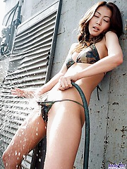 Honoka strips off the lingerie showing her hot fuckable pussy waiting for sex