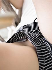 Takami Hou lovely Asian teen is sexy and cute showing off in lingerie