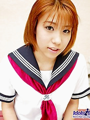 Yuri is an Asian slut who enjoys teasing the guys when she wears her sailor suit