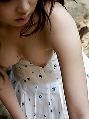 Saki Koto sexy Asian model shows her incredible body in a teeny bikini