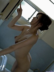 Lovely Japanese doll has a nice ass and a hot set of tits  as wellas a nice twat