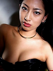 Naughty Asian model would like to spank your bad ass with her whip