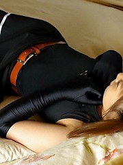Costumed Asian slut enjoys being a cockteasing little brat for her boyfriends