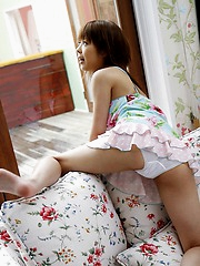 Sakurako sexy Asian teen is cute in her lingerie and when she shows her body