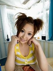 Yui Aoyama big boobed Asian teen model shows off her hot nude body