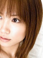 Reika Shiina shy Asian teen shows her hot body in see thru lingerie