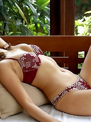 Asian lesbian model has a body that is ready for some hot sex play