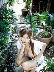 Kirara is a naughty Asian model who enjoys being a cock tease to her dates