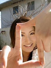 Takako Kitahara stripping student has nice ass and big fuckable tits