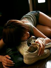 Sugayama Karen hot Asian teen shows off her hot ass and lovely big tits