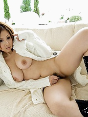 Yui Aoyama hot Asian model with big tits shows her nice body in photos