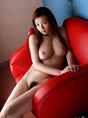 Beautiful Asian slut has a very hairy and fuckable pussy and a nice tight ass