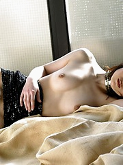 Japanese slut is exausted from being tied up and ravished by horny suitors