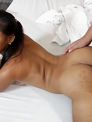 Hot bareback fucking session ending in a copious cream pie
