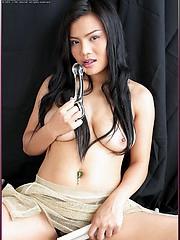 Jib Jarinya making you jealous of her dildo