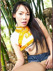 Tuk Mayuri getting naughty with bamboo