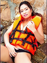Life jacket required to support huge asian juggs