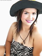 Nook Nattawan slips out of her zebra dress