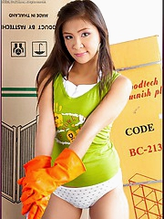 Asian babe Cha Cha does some plumbing