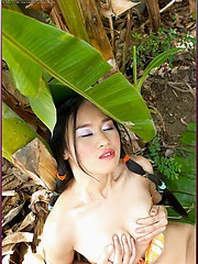 Lena Jung naked in the wilderness