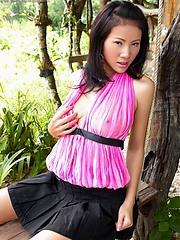 Jungle scene starring Nancy Ho and her breasts