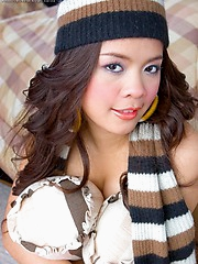 Pang went nuts and showed up to the shoot with a toque and scarf