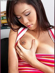Irene Fah playing with her beautiful breasts