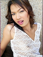 Curvy asian Judy Virada in see through top
