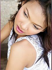 Curvy asian Judy Virada in see through top