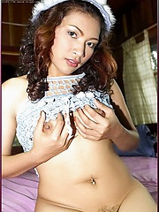 Sexy and naked Asian party girl Piczy Pure