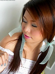 Pretty in pigtails peels off polka dot panties