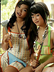 Nothing beats watching two sexy asian lesbians in action