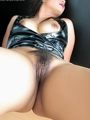 Sexy in Black this young starlet enjoys teasing you1