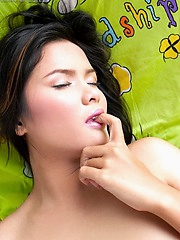 Sweet innocent Nook Nattawan takes you to her bedroom