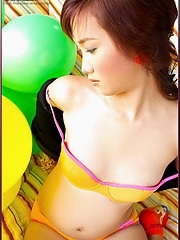 Squeaky balloons, and a squeaky tight pussy too