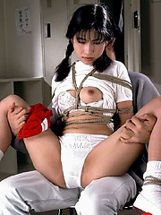Braided Asian slave loves various probings