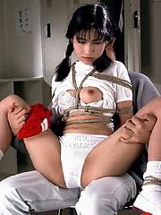 Braided Asian slave loves various probings