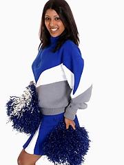 Watching this cheerleader strip will make anyone jump for joy