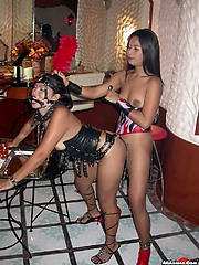 Thai girls enjoy some strap-on love