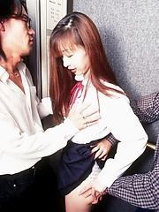 Riie Saito takes on 2 guys in an elevator