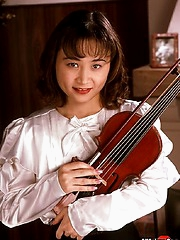 Asian violin babe gets bound and violated