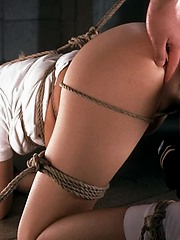 asian babe bound and gagged and still horny