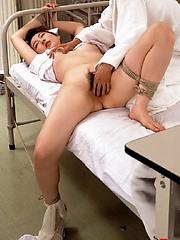 Horny asian nurse give patient special medicine