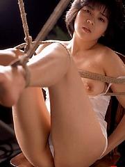 Erotic Japanese rope bondage gal