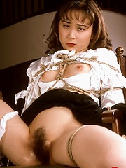 Asian tongue and nipple torture