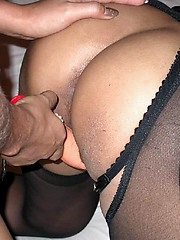 Lesbians in leather flaunt their tits